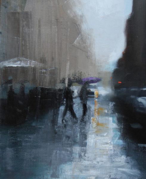 Rainswept street