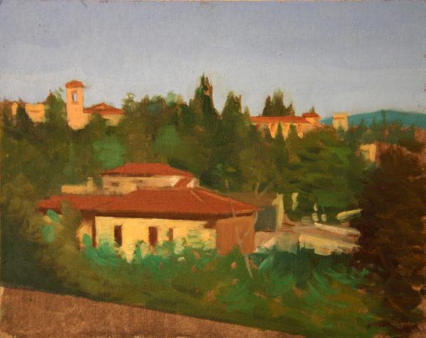 Florentine landscape sketch