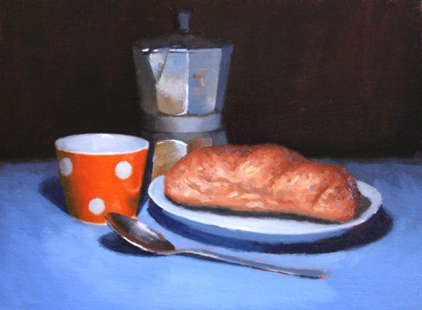 Breakfast still life painting