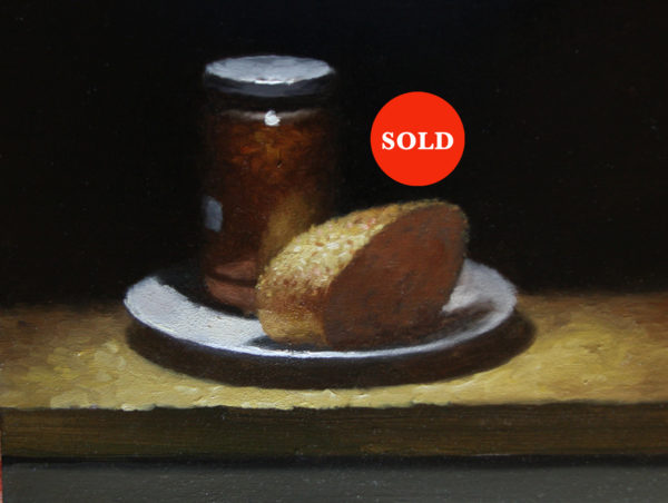 Still life with bread and jam