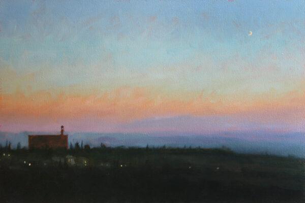 Evening-sky, Volterra