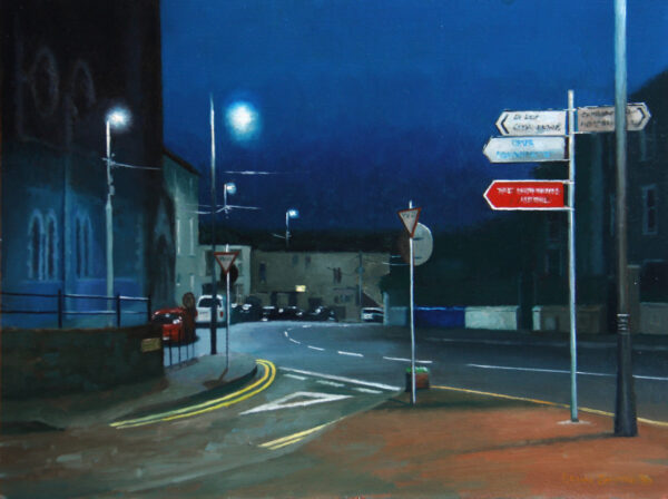 St. Lukes at night
